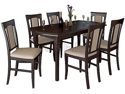 6 személyes étkezőasztal székekkel