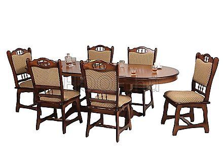 München 6-DIVSZ kibővíthető étkezőasztal garnitúra (6 db székkel ...