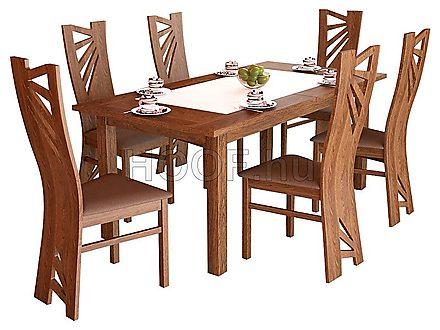 Stella 6-DIVSZ kibővíthető étkezőasztal garnitúra (6 db székkel ...