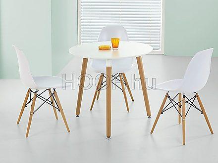 Socrates-HAL kerek étkezőasztal + K201 szék (3 db) - 3 személyes ...